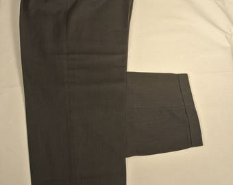"Giorgio Armani ""Mani"" Dark Gray/Olive Green Wool Blend Dress Pleat Trousers Men's Size: 35x31"