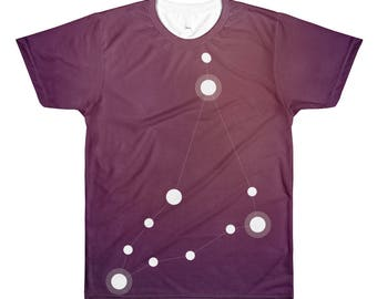 All-Over Printed T-Shirt - Zodiac Capricorn Constellation All-Over T-Shirt