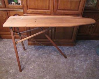 Antique Wood Ironing Board , foldup ironing board  , no. 1 board, H.V. Keller Co.