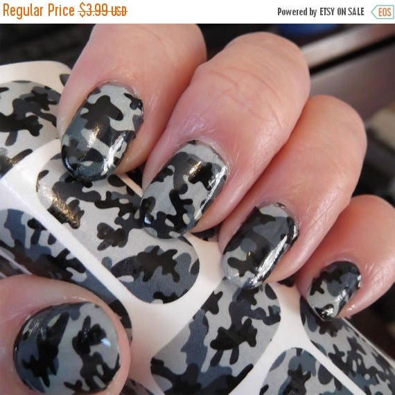 On sale 18 grey camo nail art decals cm1 camouflage nails on sale 18 grey camo nail art decals cm1 camouflage nails transparent colors waterslide stickers from northofsalem on etsy studio prinsesfo Choice Image