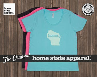 Wisconsin Home. T-shirt- Women's Curvy Fit