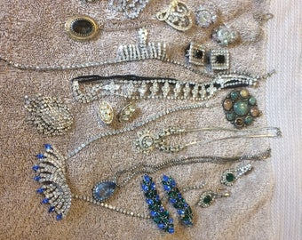 16 Pieces COSTUME JEWELRY LOT From Estate Cleanout