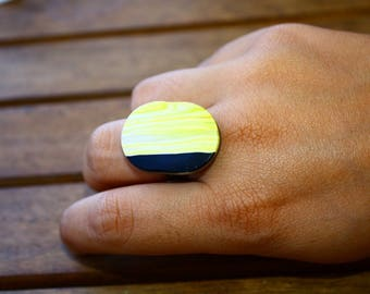 """Ring creation unique polymer - """"Bamboo"""""""