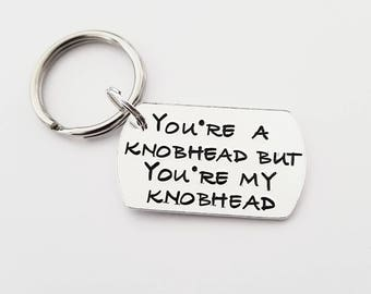 Knobhead|sweary|hand stamped|gift|for him|valentine|unique|quality|affordable