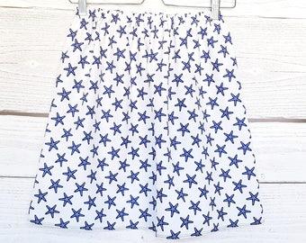 Blue starfish, tisssu skirt skirt