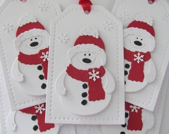 Snowman Gift Tags, Christmas Snowman Tags, Holiday Gift Tags, Snowman Gift Tags, Red, Snowman Christmas Gift Tags, Snowman Tags, Snowman