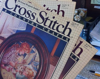 Magazines For Cross Stitch Readers, Patterns, etc. Issues From 1988, 1989, 1990