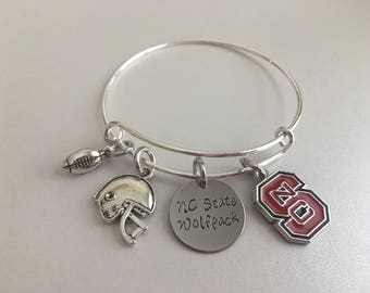 NC State Wolfpack North Carolina College Football Team Bangle
