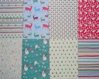 8 sheets creative Christmas paper 21 x 15 cm new scrapbooking/cardmaking