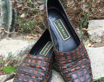 Cole Haan Leather woven loafer size 5