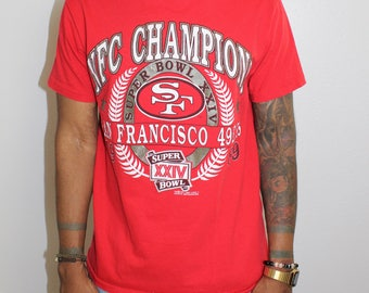 Vinage San Francisco 49ers 1989 Super Bowl T-shirt