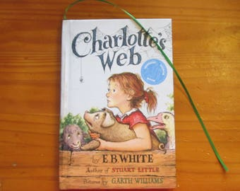 "Journal/Diary Made from used 'Charlotte's Web' book by E.B. White ""It's a Hidden In Plain Sight Journal"""