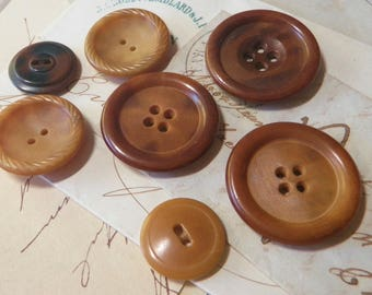 SALE!*** Vegetable Ivory Buttons  Mixed Sizes