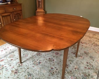 Hitchcock 8 Piece Dining Set Drop Leaf Table 6 Chairs And Hutch Signed