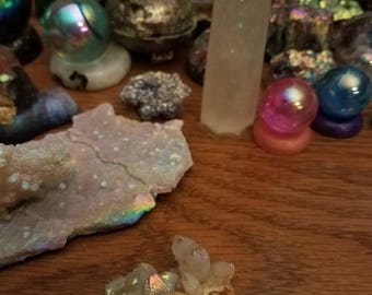 Angel aura spirit quartz cluster