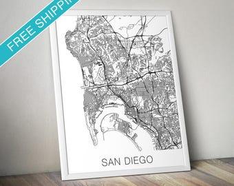 San Diego Map Print