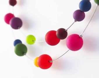 rainbow necklace polaris statement