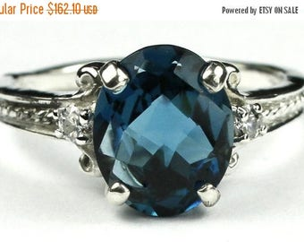 On Sale, 20% Off, London Blue Topaz, 925 Sterling Silver Ring, SR136