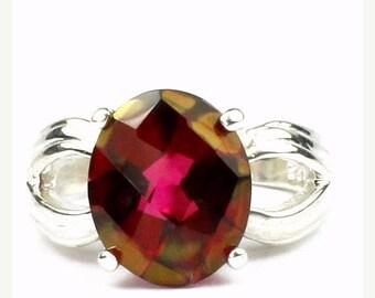 On Sale, 30% Off, Crimson Fire Topaz, 925 Sterling Silver Ladies Ring, SR361