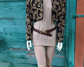 Vintage Golden Thread Embroidered Bolero Jacket