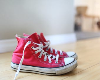 vintage red  converse all star  high tops