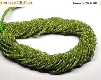 40%OFF AAA 14 Inch 3mm Vivid Natural Peridot Semiprecious Stone faceted Rondelle Beads Strand-Peridot Faceted Rondelles