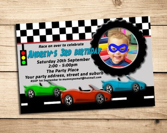 Racing Car Invite