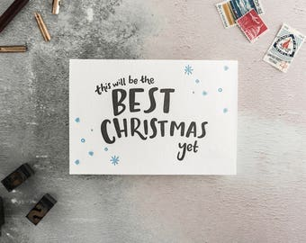 This Will Be The Best Christmas Yet Letterpress Christmas Card