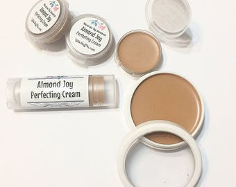 ALMOND JOY Perfecting Cream Foundation - Creamy Natural Foundation - Concealer Makeup - Gluten Free Vegan