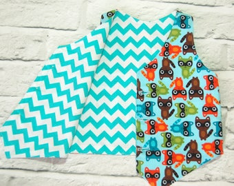 Boys Blue Waistcoat, boys vest, childrens clothes, boys clothing, animals top, boys formal wear, age 1-2, toddler outfit, party clothes