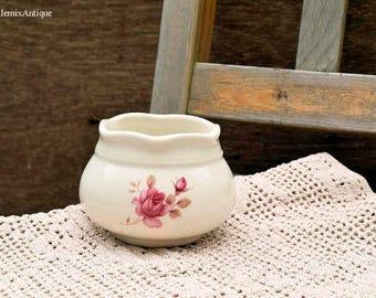 Vintage Arthur Wood England Pink Rose Pattern 5791 Small Sugar Bowl Retro English Tableware Vintage Kitchenalia Collectible Arthur Wood Ware