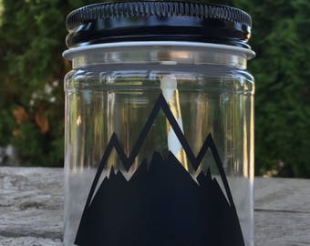 Plastic Mason Jars Cups favors Adventure Awaits Mountain Modern Wilderness Teepee tee pee native  birthday party baby shower tribal wild