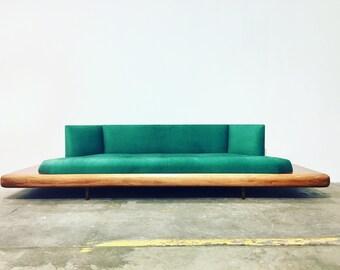 mid century modern adrian pearsall platform sofa mid century couch long teak sofa