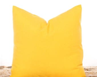 SALE ENDS SOON Solid Yellow Throw Pillow, Yellow Pillow Covers, Solid Yellow, Yellow Coordinating Pillow, Pillowcases, Yellow Cushion Covers