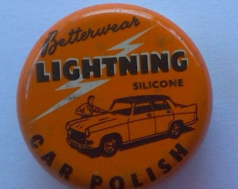 Sample Betterwear Lightning Silicone Car Polish Miniature Tin English Morris Oxford