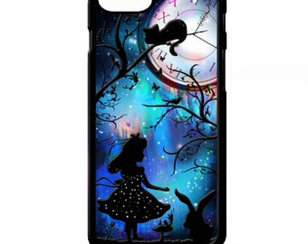 Alice in wonderland silhouette art pretty white rabbit graphic cover for sony xperia Z2 Z3 Z5 comapct Htc one m9 Lg G3 phone case