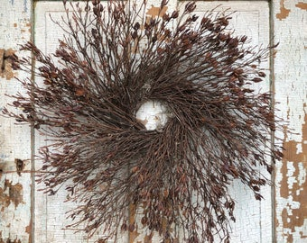 """Natural Wild Rhododendron Twig Wreath - 26"""""""