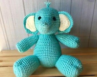 Blue Elephant - Plush Elephant Toy - Baby Boy Gift