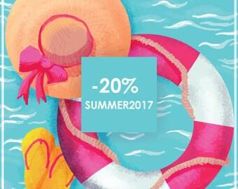 Summer sale!! discount 20%