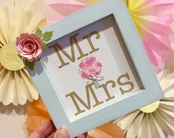 Mr & Mrs wedding sign - half price