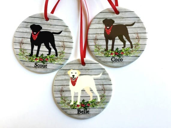 Lab christmas ornament labrador retriever dog personalized for Unique christmas gifts for dog lovers
