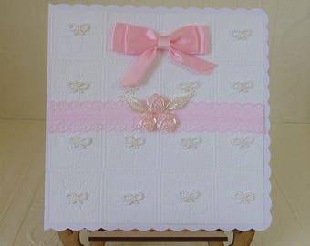 Baby Girl Congratulations Card Handmade