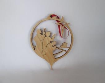 Christmas tree decoration - scroll saw cut