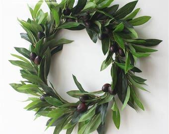 Christmas Wreaths,Year Round Wreath,Front Door Wreath,Peace Olive Wreath,Door Hangers,Holiday Wreaths