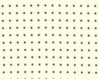 COMMA - Black Periods on Chalk White - Dot Dots Novelty Cotton Quilt Fabric - by Zen Chic for Moda Fabrics - 1515-11 (W4122)