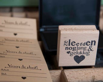 DIY Question the plate labels letterpress and stamp They lived happily ever after