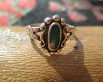 Bell Trading Post Turquoise and Sterling Ring Size 5.5