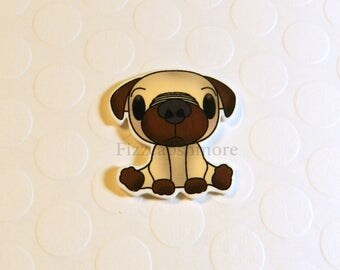 Pug Pin Handcrafted Brooch Flair Lapel Pin Tie Tack Hat Pin