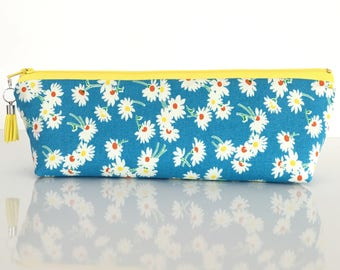 Pencil case, makeup bag, small knitting needle case, small travel pouch, school supply, teachers gift