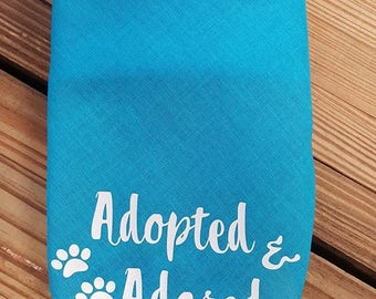 Adopted & Adored Dog Bandana